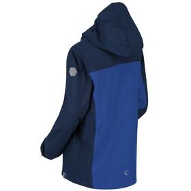 Regatta Highton Veste Shell Imperméable Enfant, dark denim/nautical blue